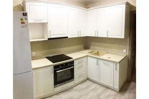 Кухня угловая белая МДФ - Мебельная фабрика «Гармония»