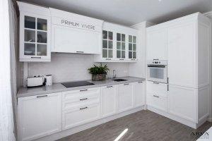 Кухня угловая береза Белая - Мебельная фабрика «ARVA»