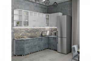 Кухня угловая Бетон Лофт - Мебельная фабрика «Стрела»