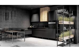 Кухня угловая пластик Matrix - Мебельная фабрика «ROSS»