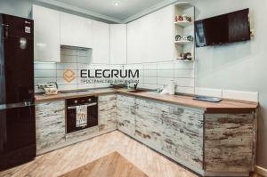 Кухня угловая Cleaf + Акрил - Мебельная фабрика «ELEGRUM»