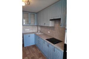 Кухня угловая голубая нежная - Мебельная фабрика «Алмаз-мебель»