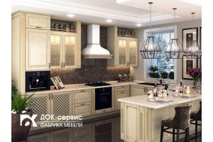 Кухня угловая из массива березы - Мебельная фабрика «ДОК-Сервис»
