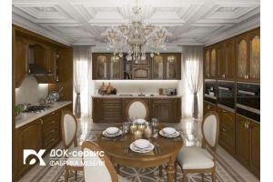 Кухня угловая из массива классическая - Мебельная фабрика «ДОК-Сервис»