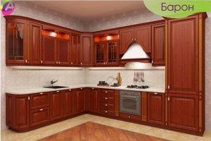 Кухня угловая классическая Барон - Мебельная фабрика «Акварель»