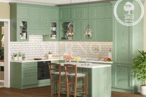 Кухня угловая Корсика шпон - Мебельная фабрика «ВерноКухни»