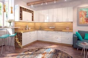 Кухня угловая Кристайл - Мебельная фабрика «Славичи»
