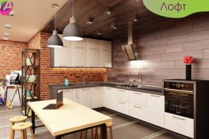 Кухня угловая Лофт - Мебельная фабрика «Акварель»