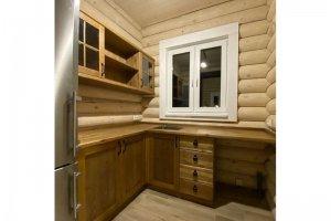 Кухня угловая массив - Мебельная фабрика «Массив»