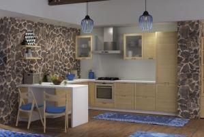 Кухня угловая массив Lavia - Мебельная фабрика «AlvaLINE»