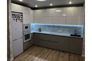 Кухня угловая МДФ Эмаль - Мебельная фабрика «Алмаз-мебель»