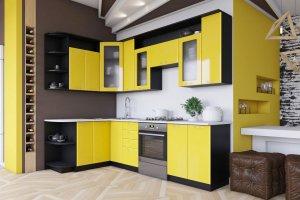 Кухня угловая МДФ в плёнке - Мебельная фабрика «Омега»