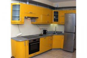 Кухня угловая МДФ Желтый Глянец - Мебельная фабрика «MaxiКухни» г. Санкт-Петербург
