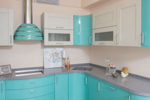Кухня угловая мята Лаура - Мебельная фабрика «Бобр»