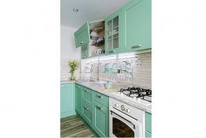 Кухня угловая мятная k190404 - Мебельная фабрика «Астрон»
