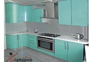 Кухня угловая мятная Женуа - Мебельная фабрика «Меркурий»