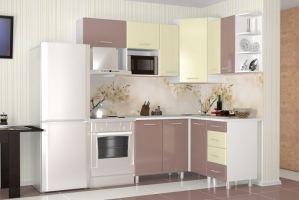 Кухня угловая Надежда капучино/беж - Мебельная фабрика «Премиум»