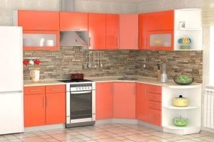 Кухня угловая оранжевая - Мебельная фабрика «Влад»