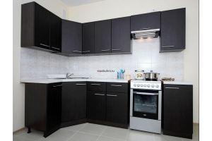 Кухня темная угловая Пиано - Мебельная фабрика «MaxiКухни»