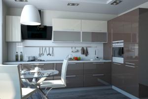 Кухня угловая Пластик - Мебельная фабрика «ARTOKEAN»