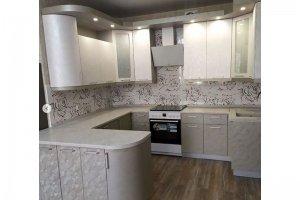 Кухня угловая ПВХ с полуострвом - Мебельная фабрика «Монолит»