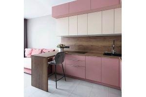 Кухня угловая розовая - Мебельная фабрика «Люкс-С»