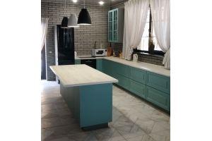 Кухня угловая с островом - Мебельная фабрика «Вектор-М»