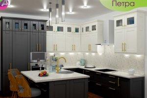 Кухня угловая с островом Петра - Мебельная фабрика «Акварель»