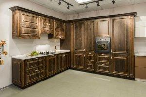 Кухня угловая с патиной - Мебельная фабрика «Союз-Мебель»