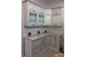 Кухня угловая с патиной Клеопатра 08 - Мебельная фабрика «ОЛИМП»