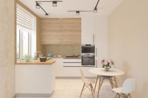 Кухня угловая с полуостровом Кэри - Мебельная фабрика «Акварель»