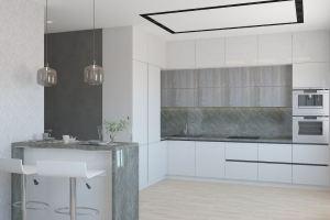 Кухня угловая с полуостровом Стейн - Мебельная фабрика «Акварель»