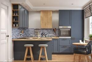 Кухня угловая с полуостровом Topaz - Мебельная фабрика «AlvaLINE»