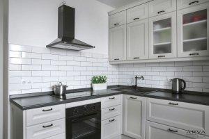 Кухня угловая Серый Прованс - Мебельная фабрика «ARVA»