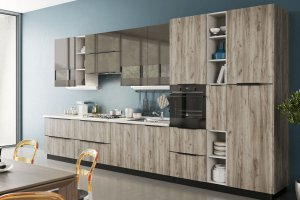 Кухня угловая Тайм - Мебельная фабрика «Рими (Интерстиль)»
