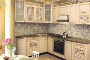 Кухня угловая в пленке пвх с патиной - Мебельная фабрика «Акварель»