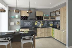 Кухня угловая в стиле Лофт - Мебельная фабрика «Акварель»
