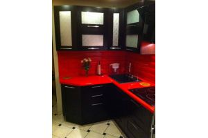 Кухня угловая венге-красный - Мебельная фабрика «Мебель +5»