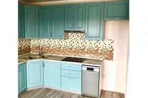 Кухня угловая зеленая - Мебельная фабрика «Омега»