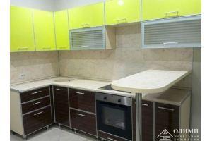 Кухня угловая желтая Мелисса 04 - Мебельная фабрика «ОЛИМП»