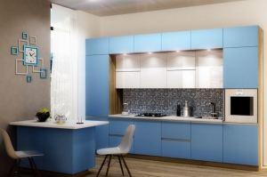 Кухня в алюминиевом профиле Fuxia - Мебельная фабрика «AlvaLINE»