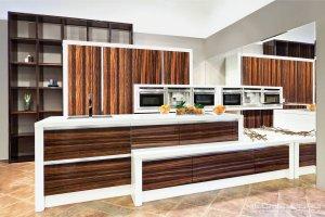 Кухня в шпоне ENERGY MACASSAR - Мебельная фабрика «KUCHENBERG»