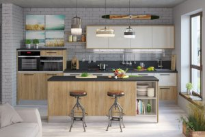 Кухня в современном стиле Франка-Сантина - Мебельная фабрика «Zetta»
