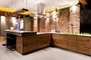 кухня в стиле Лофт фасад шпон - Мебельная фабрика «Avanto»