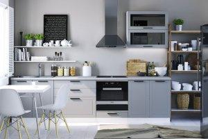 Кухня в стиле лофт Глетчер - Мебельная фабрика «Сурская Мебель»