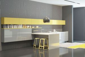 Кухня в стиле минимализм Графика - Мебельная фабрика «Энли»