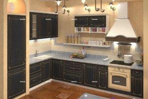 Кухня Венге патина - Мебельная фабрика «Мелиада»