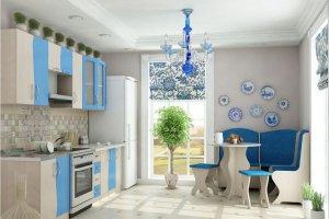 Кухня Весна 1,5 Дуб\Голубой - Мебельная фабрика «НКМ»