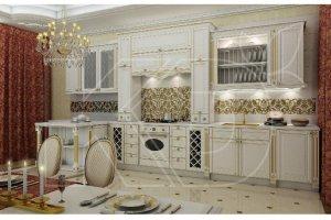 Кухня Виконт белый  из массива бука - Мебельная фабрика «Кухонный двор»