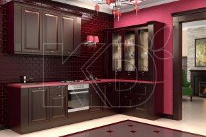 Кухня Вильгельм тёмный из дуба - Мебельная фабрика «Кухонный двор» г. Малаховка